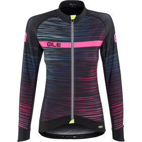 Alé Cycling Graphics PRR The End maglietta a maniche lunghe Donna, black-multicolor-fluo-pink